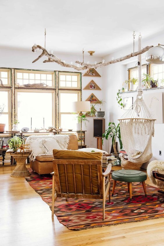 Design love boho chic hazel honeysuckle for Natural living room design ideas